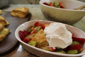 Orange Scone with Fruit and Cream