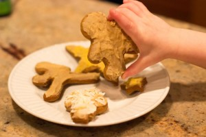 Maple Frosting on Gingerbread Cookies