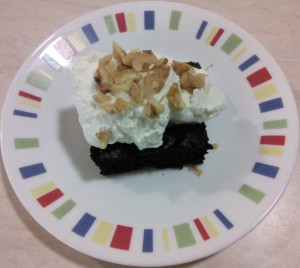 topped brownie